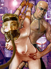 Slave girls live in cell like an animals!
