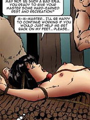 Slaves in cages, tits bound to the floor or crushed, hanging on ropes and whipping!