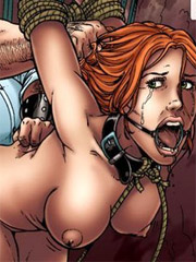 Breathtaking gals are getting jeered and fucked badly when tied and gagballed in bdsm casino in the coolest bdsm art comics