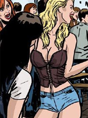 Cool bdsm porn cartoon with poor man getting enchained and his asshole slammed hard with a vibro